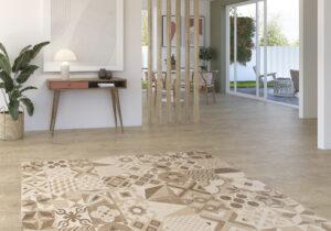 azulev retro dlažba plávajúca podlaha do obývačky chodby