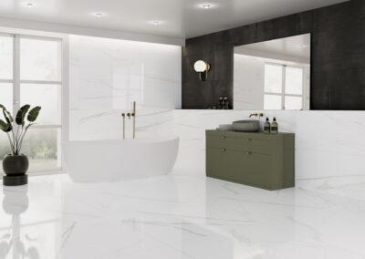 Calacatta White 120X120 / 60X120, Expression Titanio 50X100 A