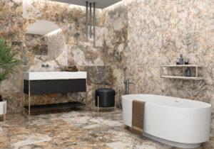 Luxusná Kúpeľňa Hnedý Mramor Hnedá žula Super kvalita Kúpeľňa Dodogrup