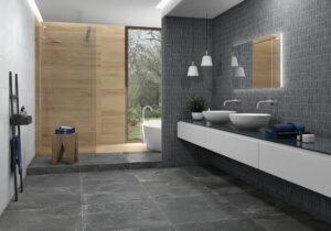 kovovy efekt v kombinacii s drevom matna siva antracitova novinka 2020 Azulev