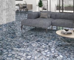 moderná modrá dizajnová dlažba Ceracasa