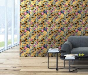 dizajnový farebný živý obrázok kvetiny tropické ovocie tropický vzor dekoratívny obklad novinka Ceracasa