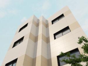 béžový pieskový fasadny obklad na dom do exterieru Ceracasa