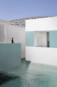 biely modrý obklad fasadny obklad Ceracasa