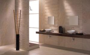 moderno matná béžová kúpeľňa obklad
