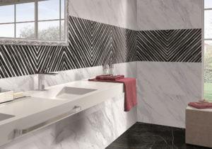 dizajnová luxusná lesklá kúpeľna