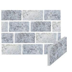 pravý prírodný kameň, kameň slovakia, modrý sivý obklad tehla